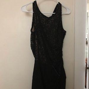 Black/tan lace dress size medium worn once